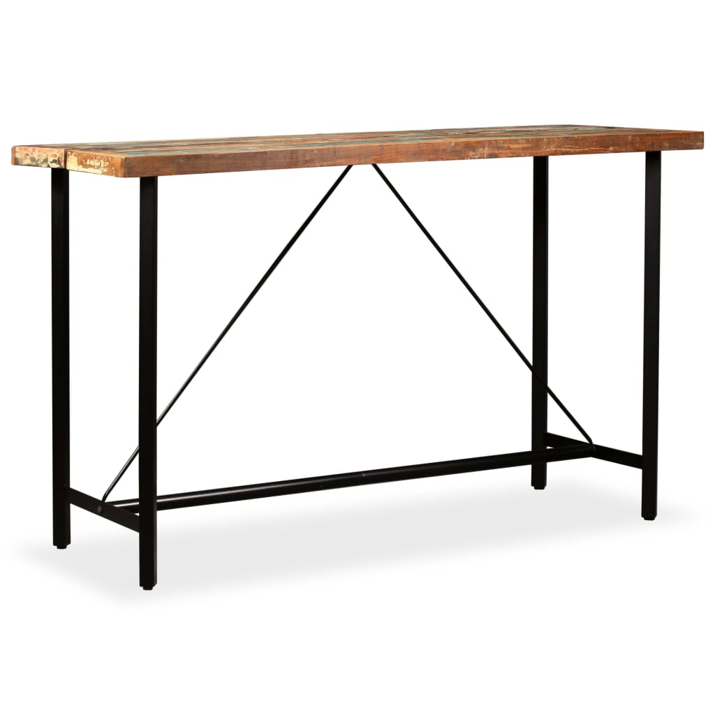 Bar Table 180x70x107 cm Solid Reclaimed Wood 1