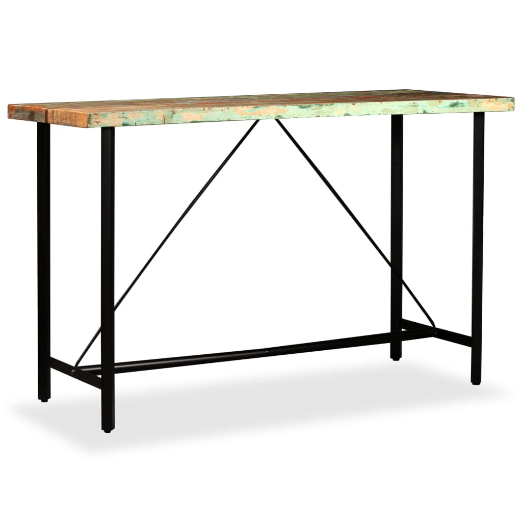 Bar Table 180x70x107 cm Solid Reclaimed Wood 11