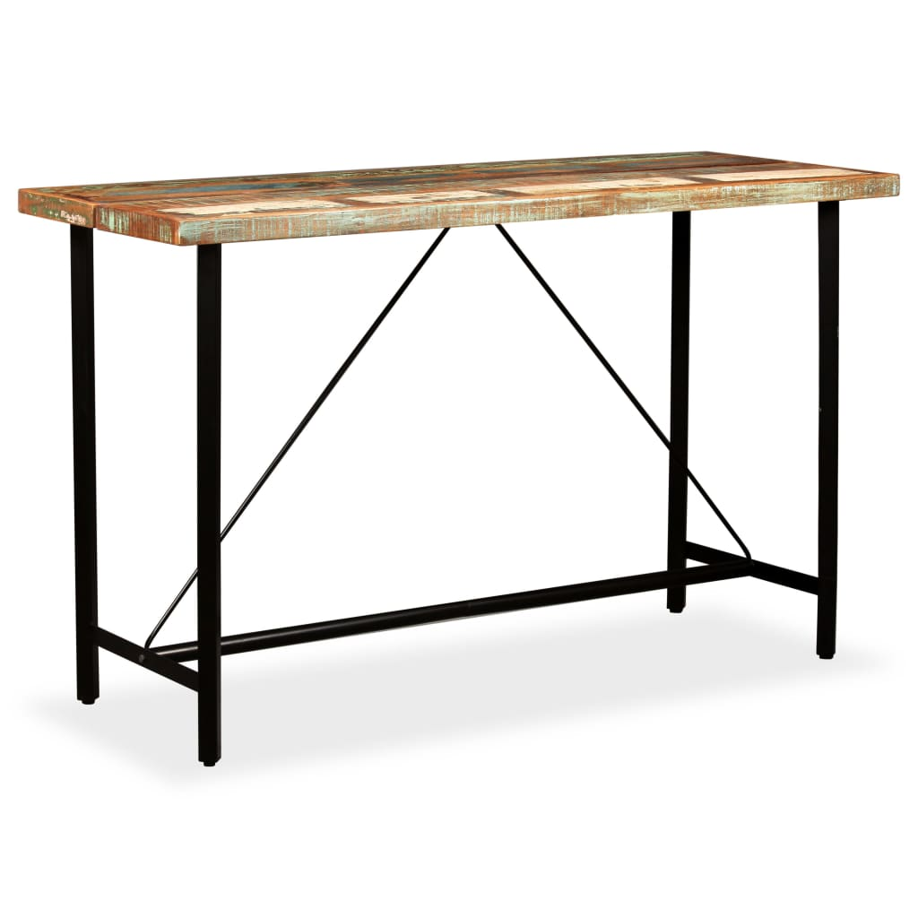 Bar Table 180x70x107 cm Solid Reclaimed Wood 9