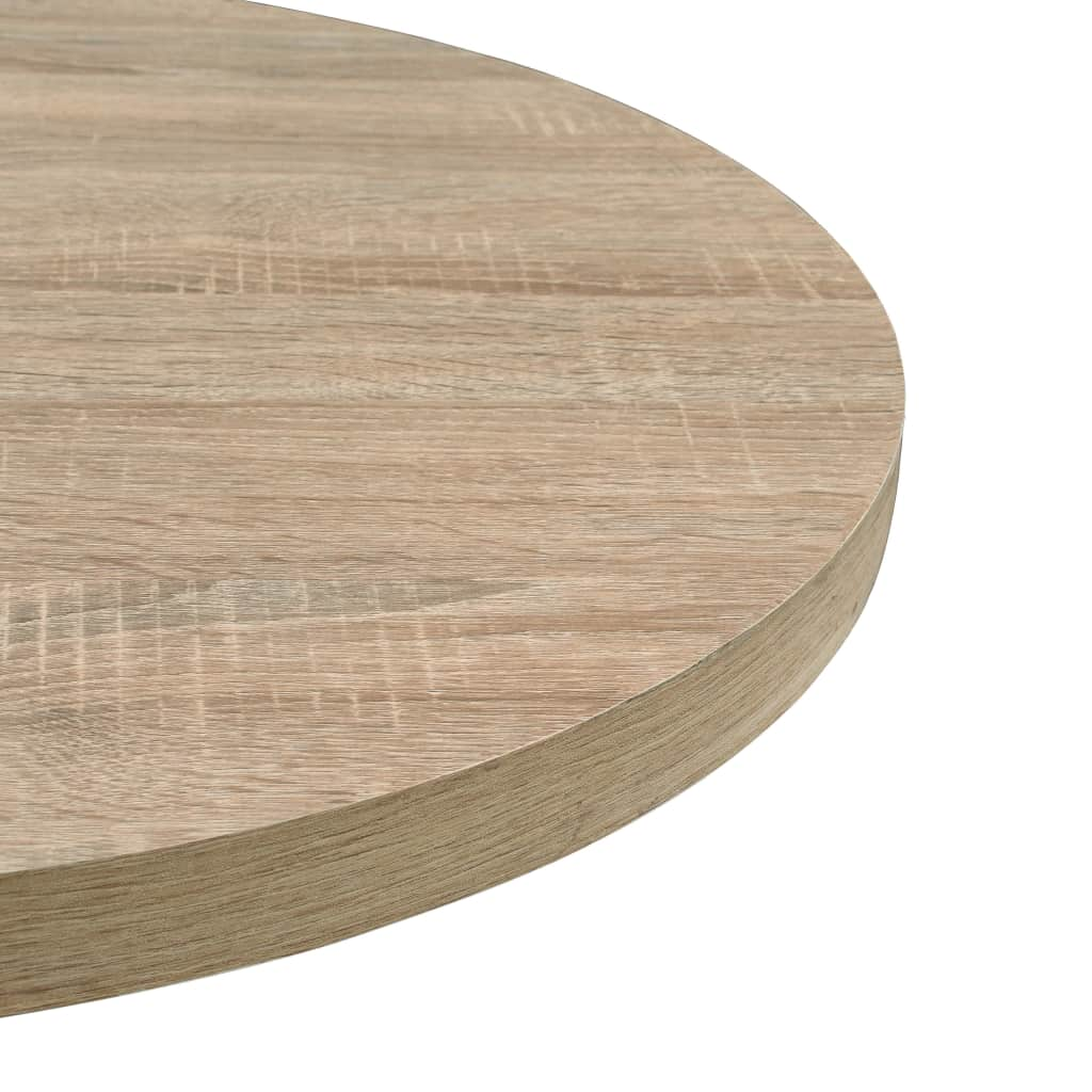 Bistro Table MDF and Steel Round 60×75 cm Oak Colour 5