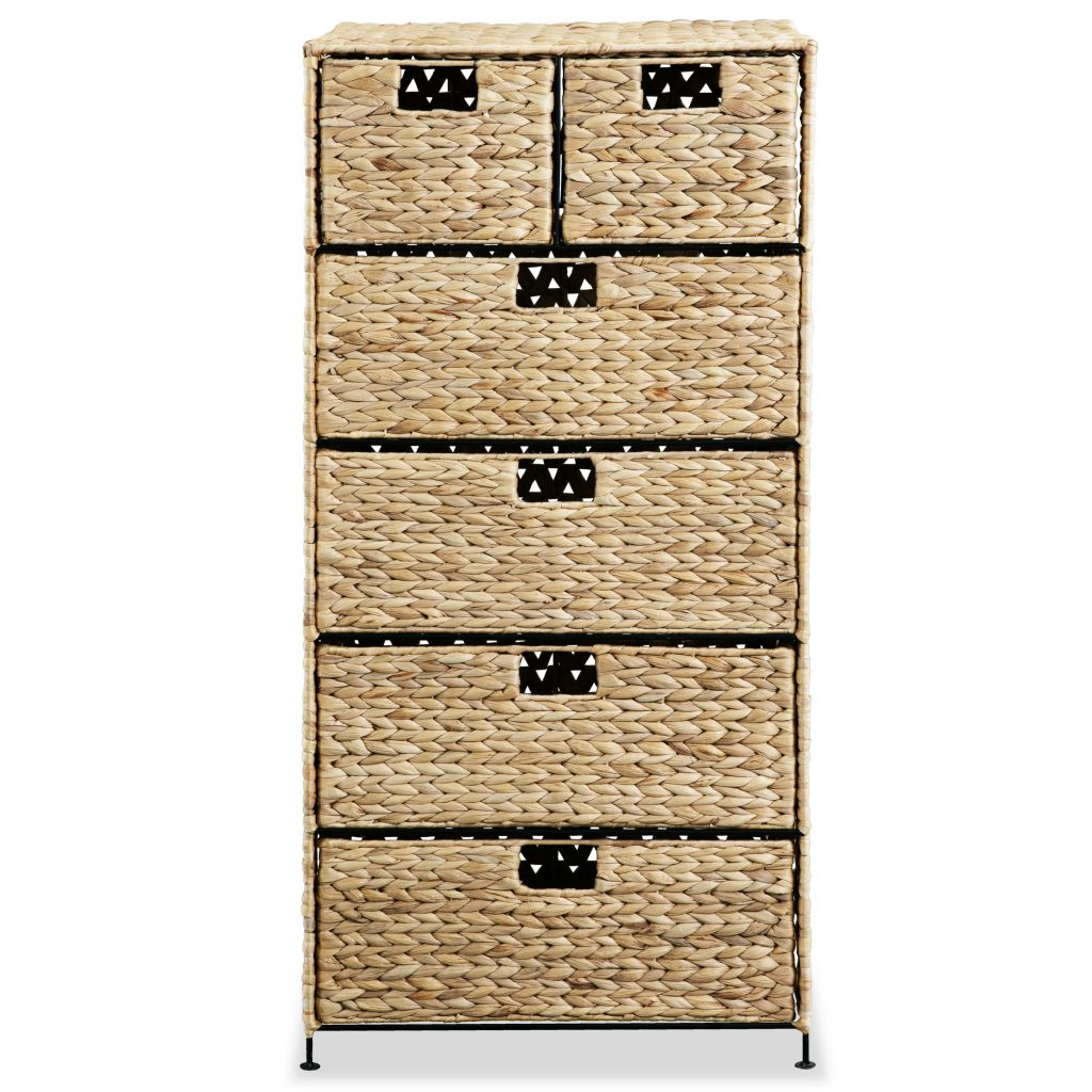 Storage Unit with 6 Baskets 47x37x100 cm Water Hyacinth 3
