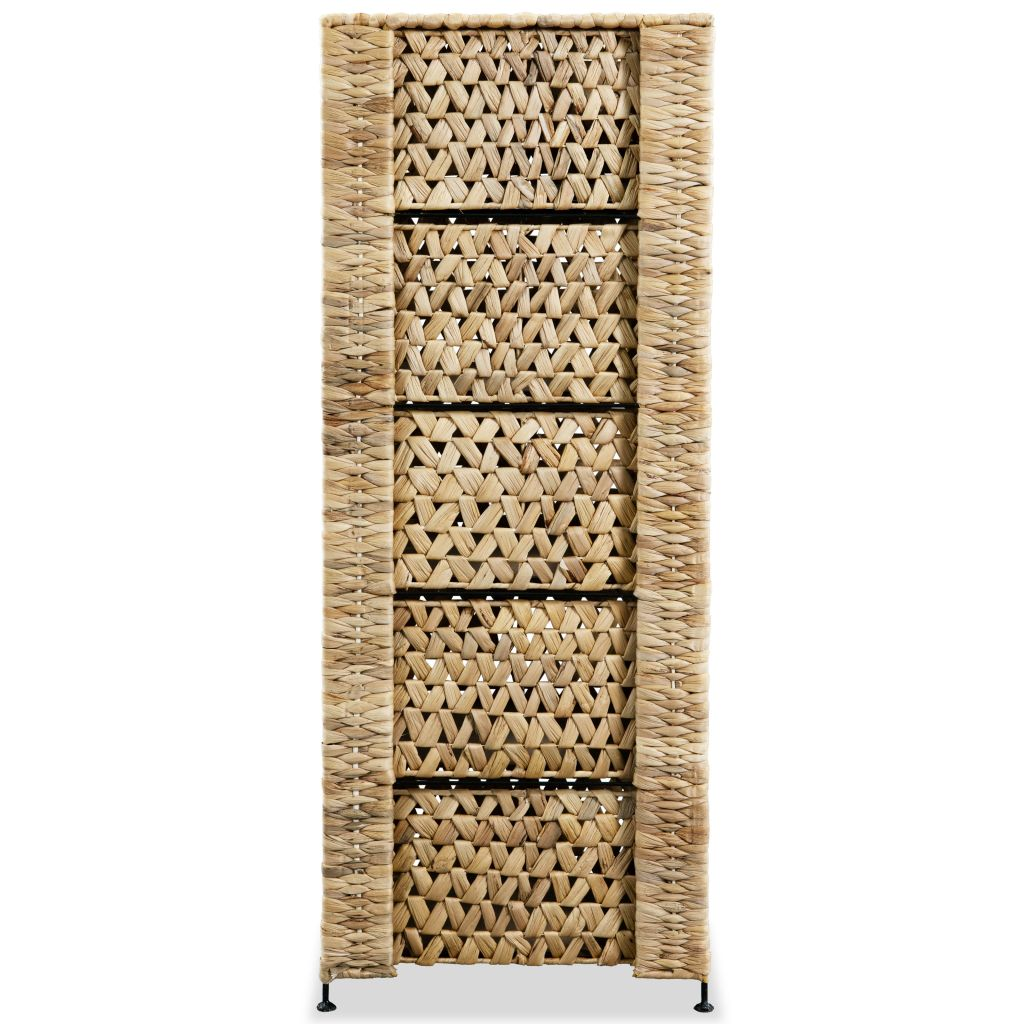 Storage Unit with 6 Baskets 47x37x100 cm Water Hyacinth 4