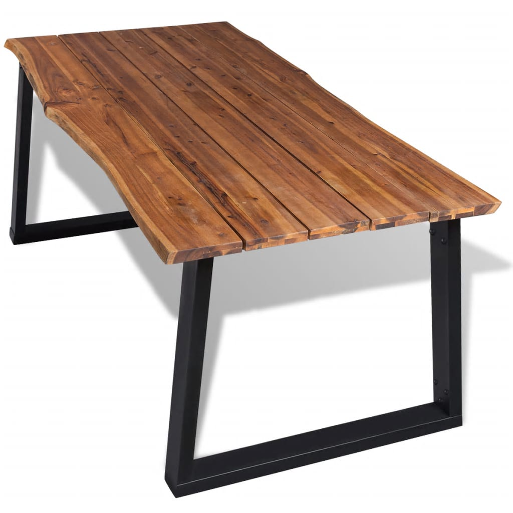 Dining Table Solid Acacia Wood 180×90 cm 2