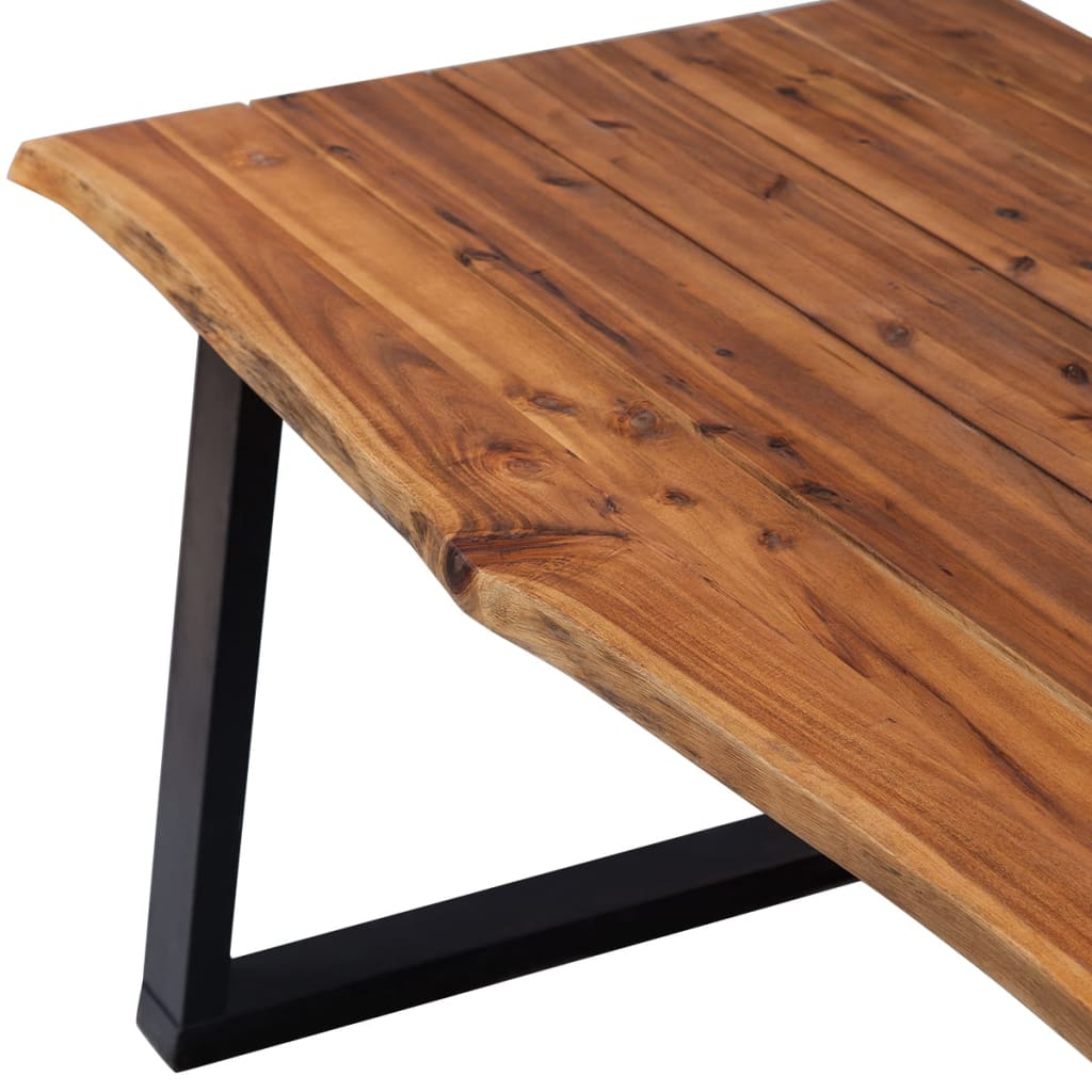 Dining Table Solid Acacia Wood 180×90 cm 4