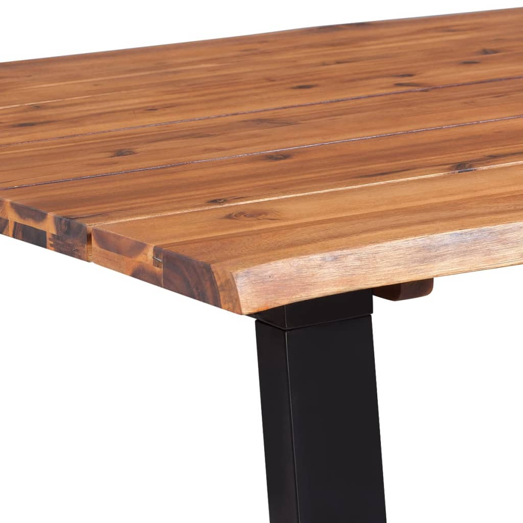 Dining Table Solid Acacia Wood 180×90 cm 5