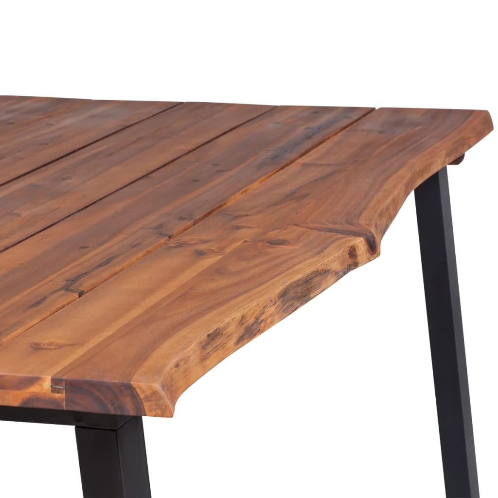 Dining Table Solid Acacia Wood 180×90 cm 6