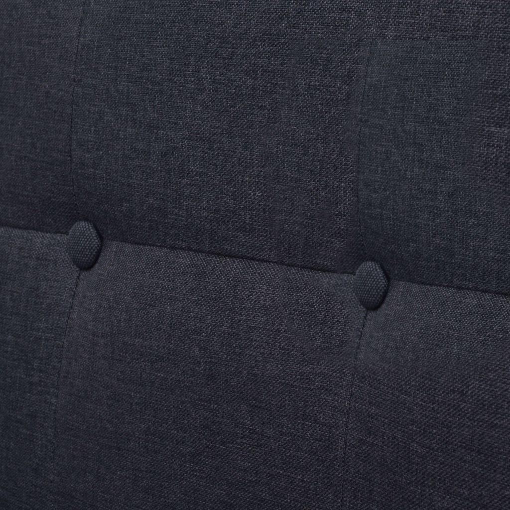 2-Seater Sofa with Armrests Steel and Fabric Dark Grey 2