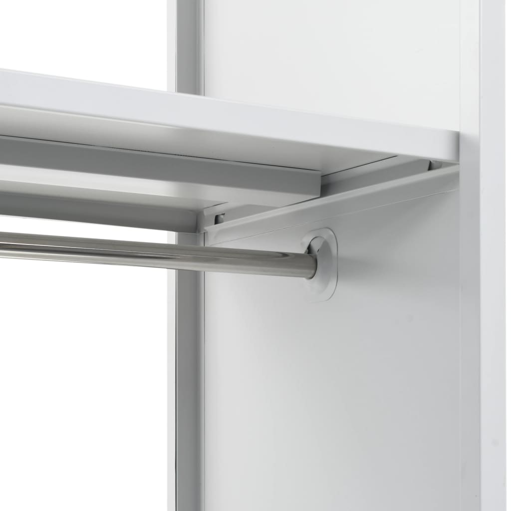 Locker Cabinet with Coat Rack Blue and Grey 110x45x180 cm Metal 5