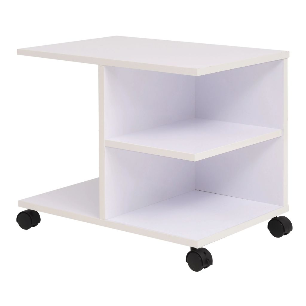 Rolling Shelf 50x35x42 cm White