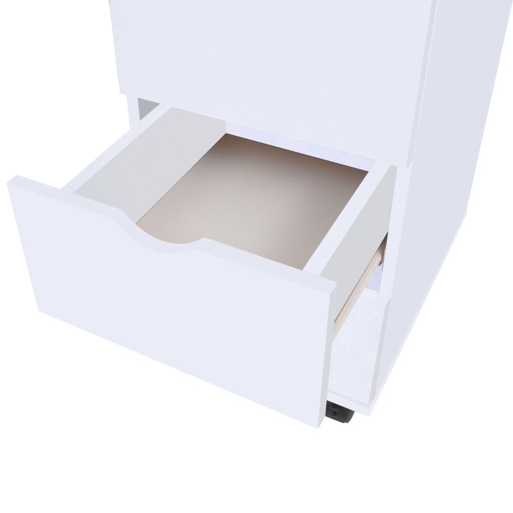 Drawer Unit 33x45x60 cm White 5