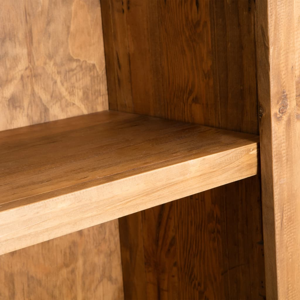 Freestanding Bathroom Cabinet Solid Recycled Pinewood 2