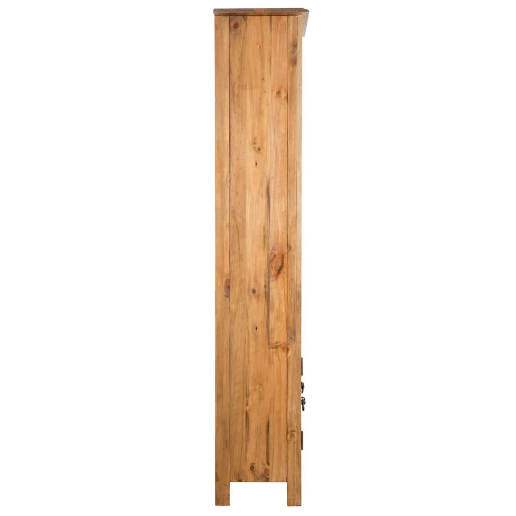 Freestanding Bathroom Cabinet Solid Recycled Pinewood 5