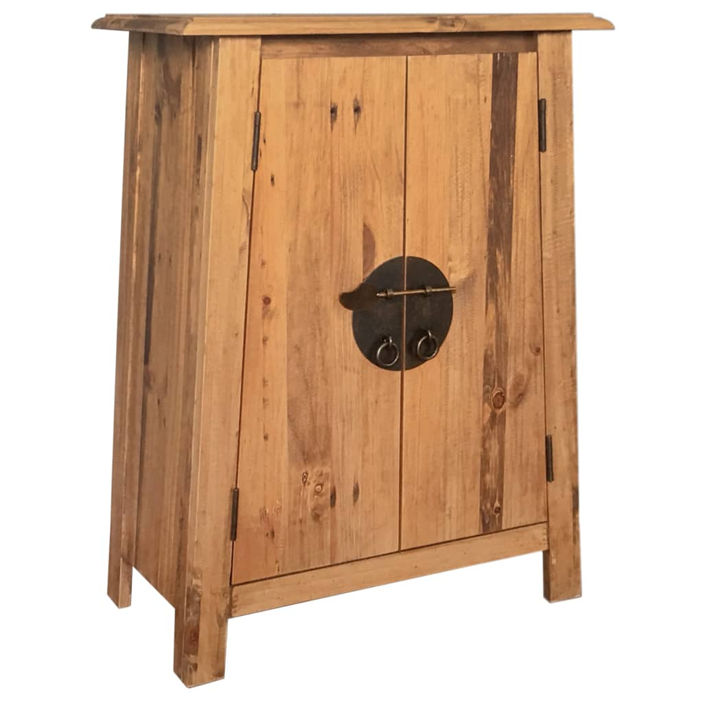 Bathroom Side Cabinet Solid Recycled Pinewood 59x32x80 cm