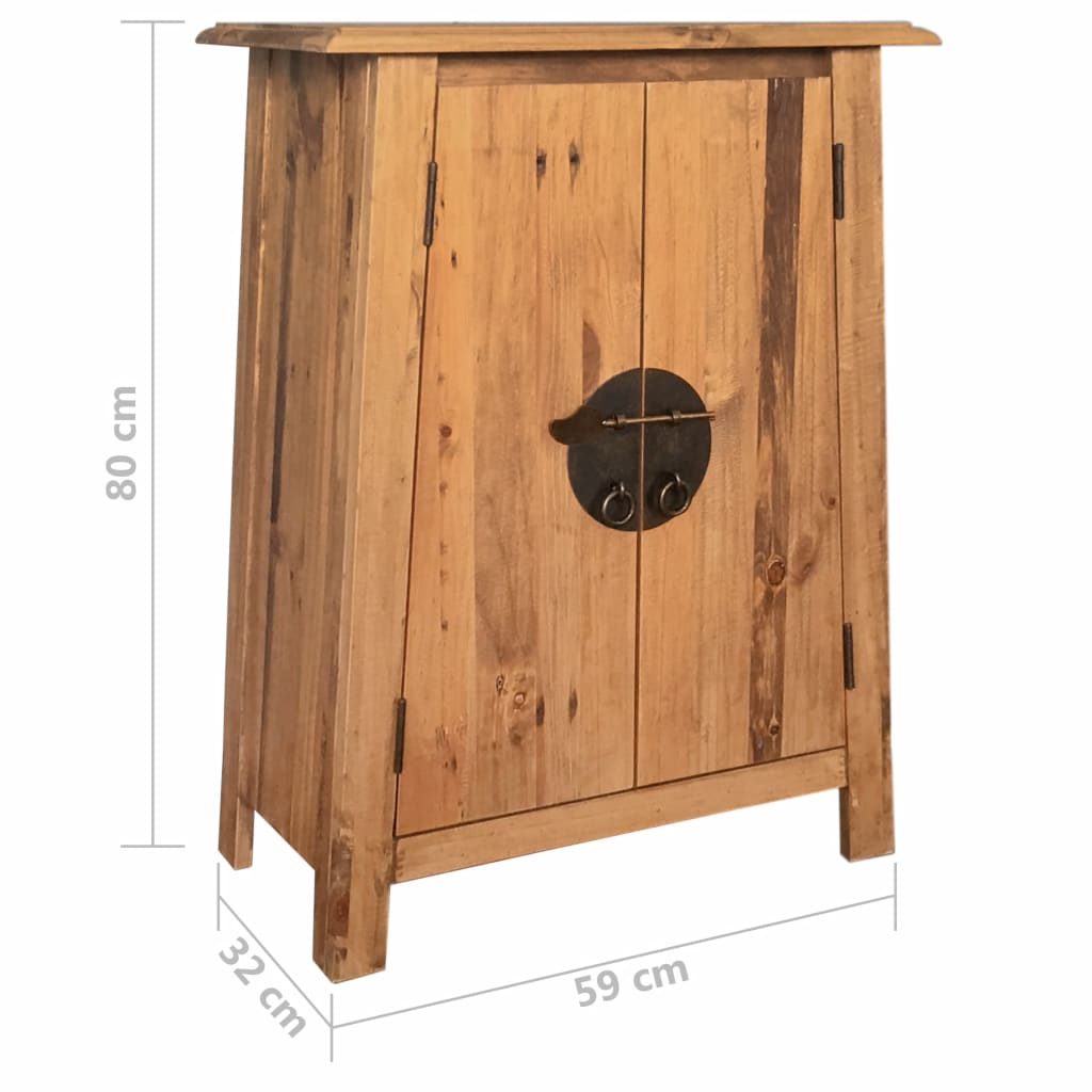 Bathroom Side Cabinet Solid Recycled Pinewood 59x32x80 cm 9