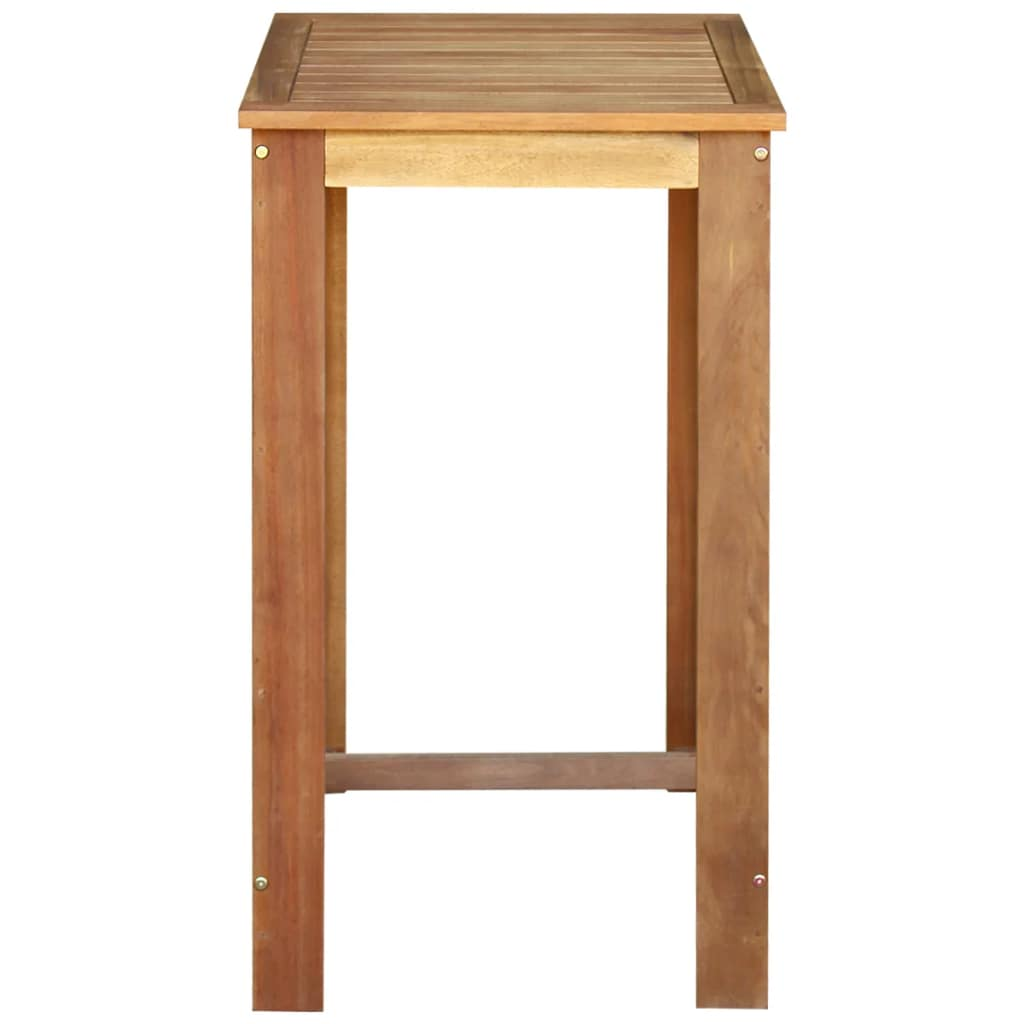 Bar Table Solid Acacia Wood 60x60x105 cm 2