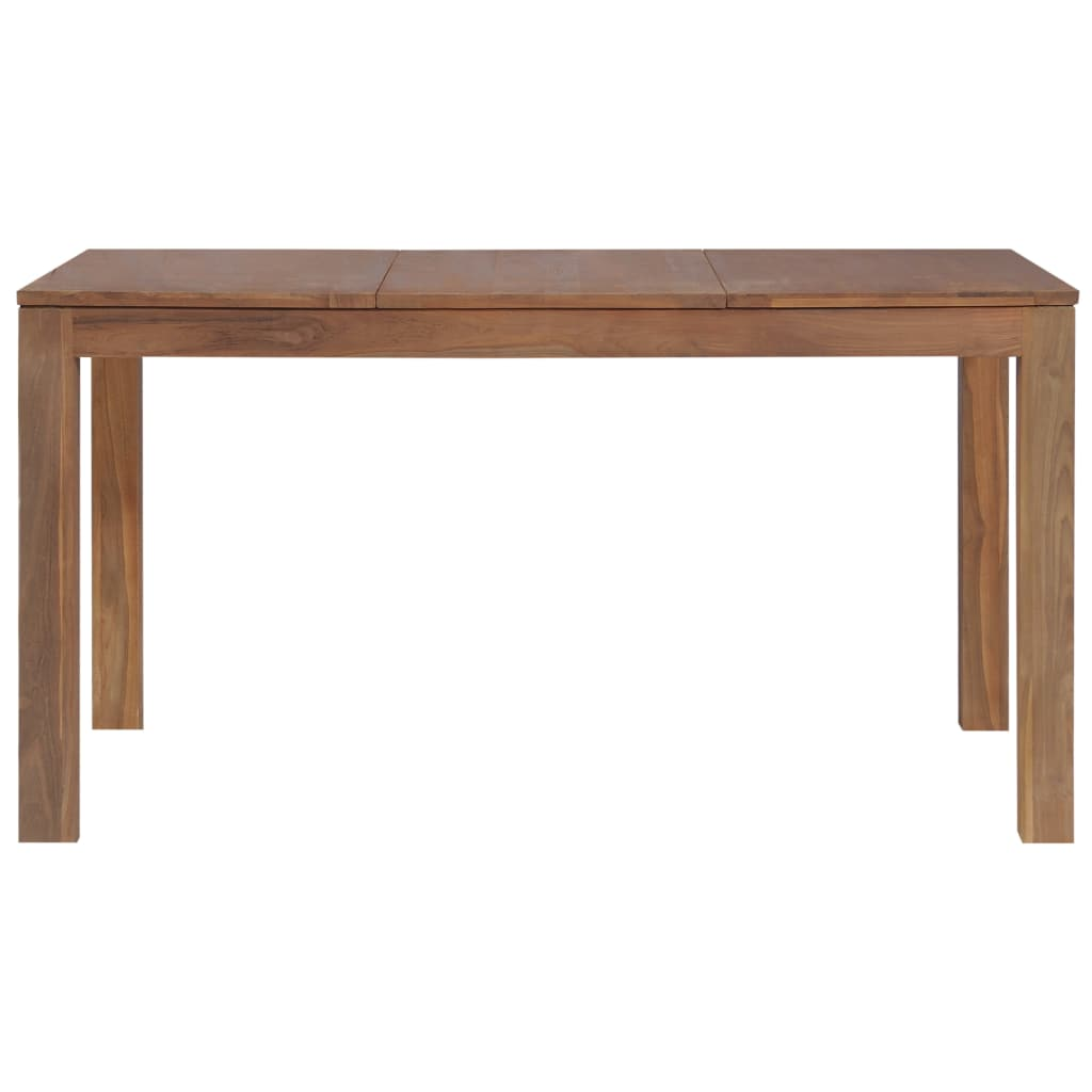 Dining Table Solid Teak Wood with Natural Finish 140x70x76 cm 4