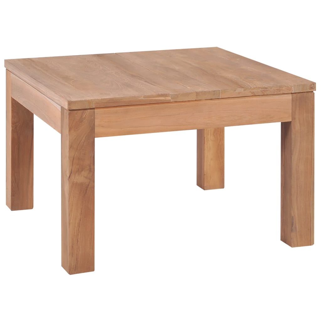 Coffee Table Solid Teak Wood with Natural Finish 60x60x40 cm