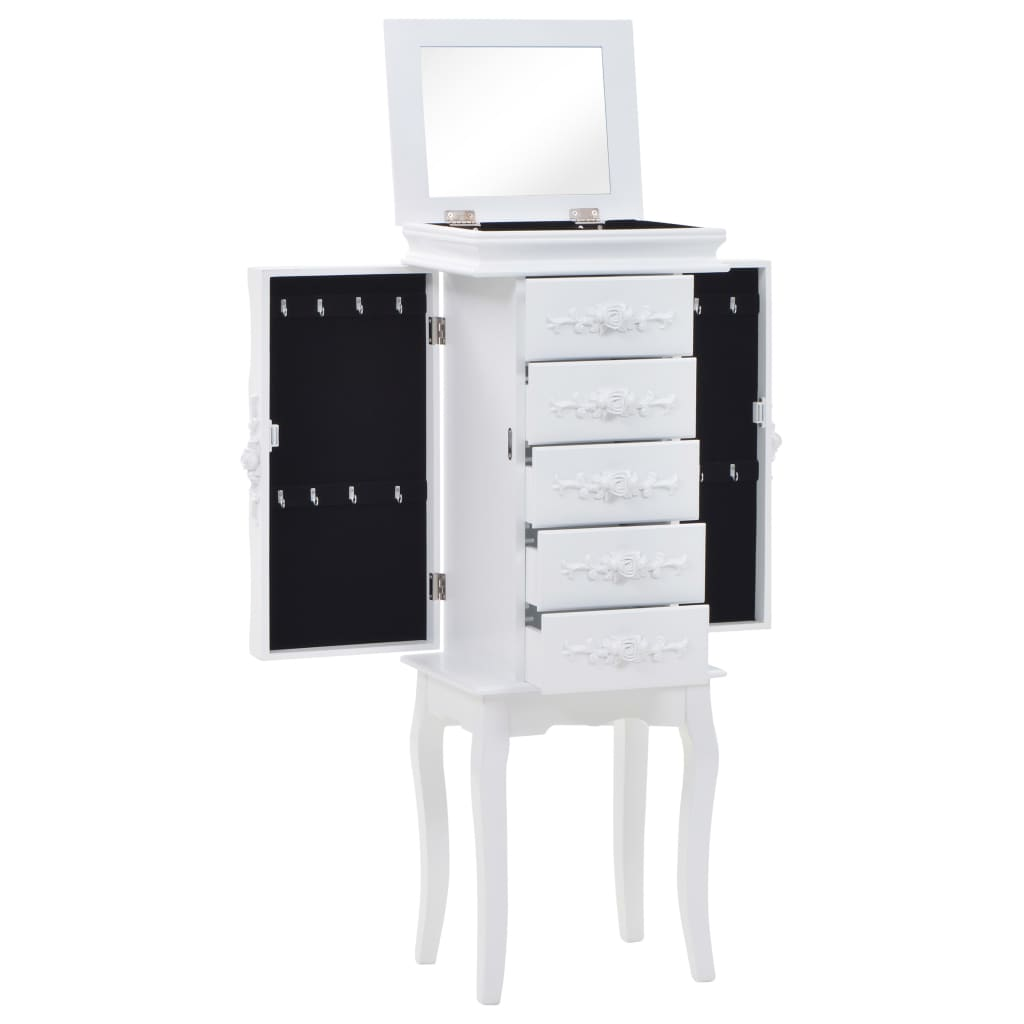 Free Standing Jewelery Cabinet White