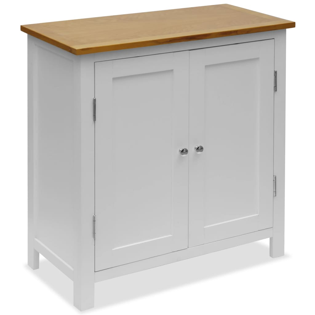 Cupboard 70x35x75 cm Solid Oak Wood
