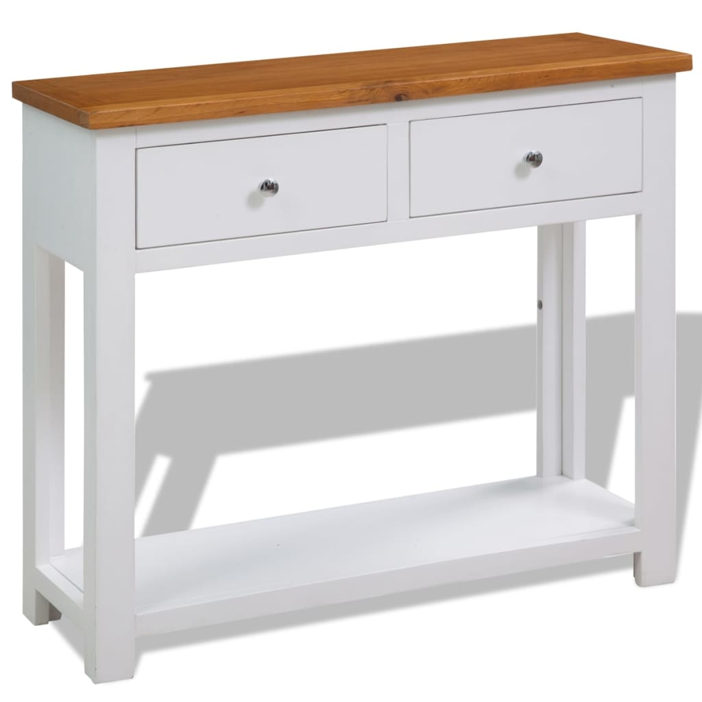 Console Table 83x30x73 cm Solid Oak Wood