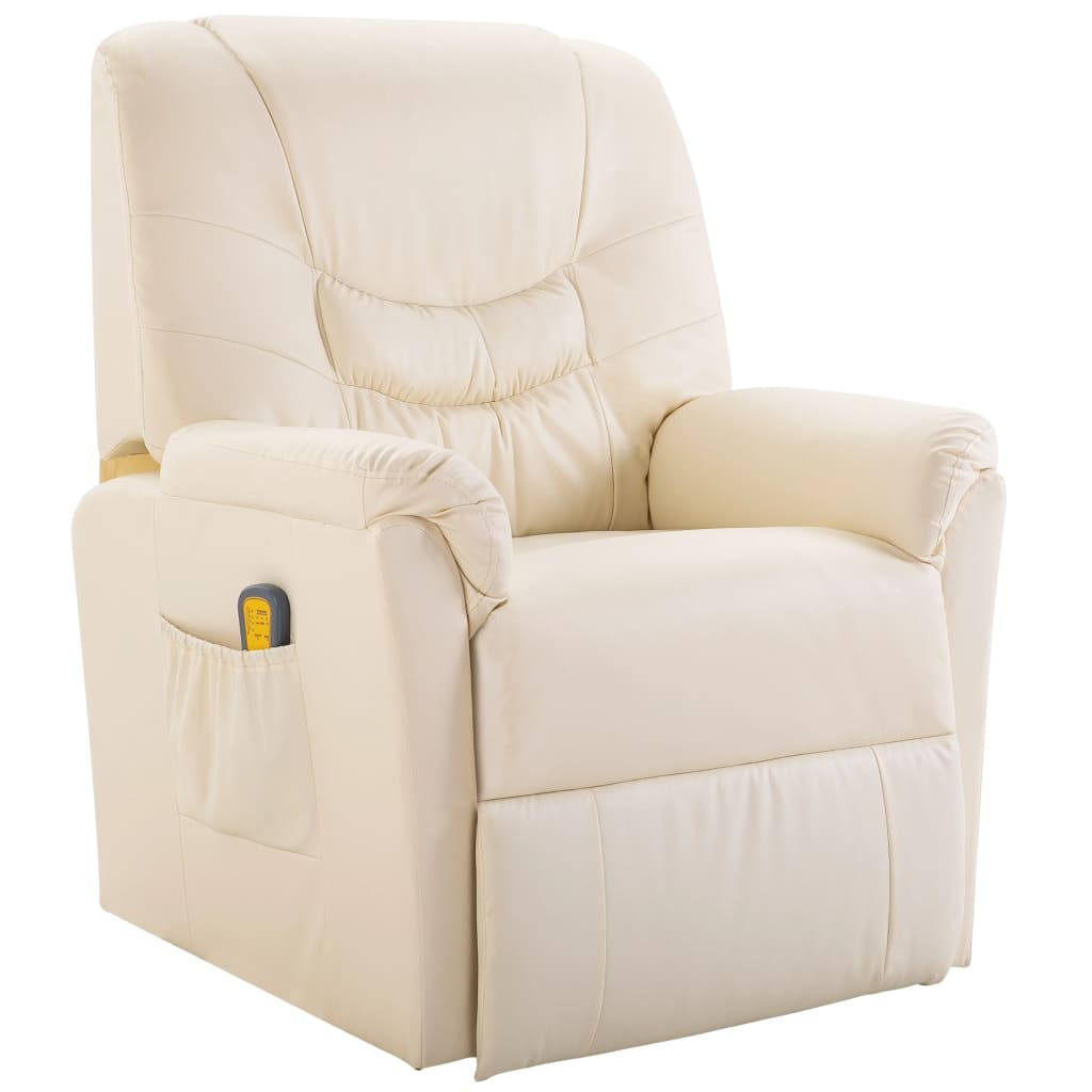 Massage Chair Cream Faux Leather