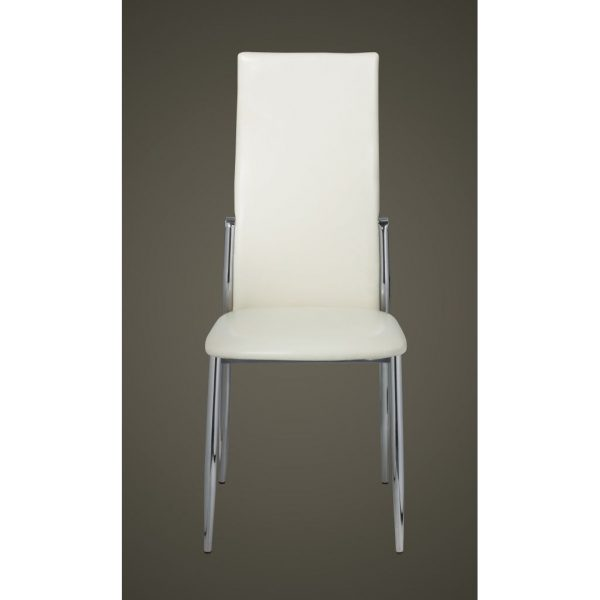 Dining Chairs 4 pcs White Faux Leather 4