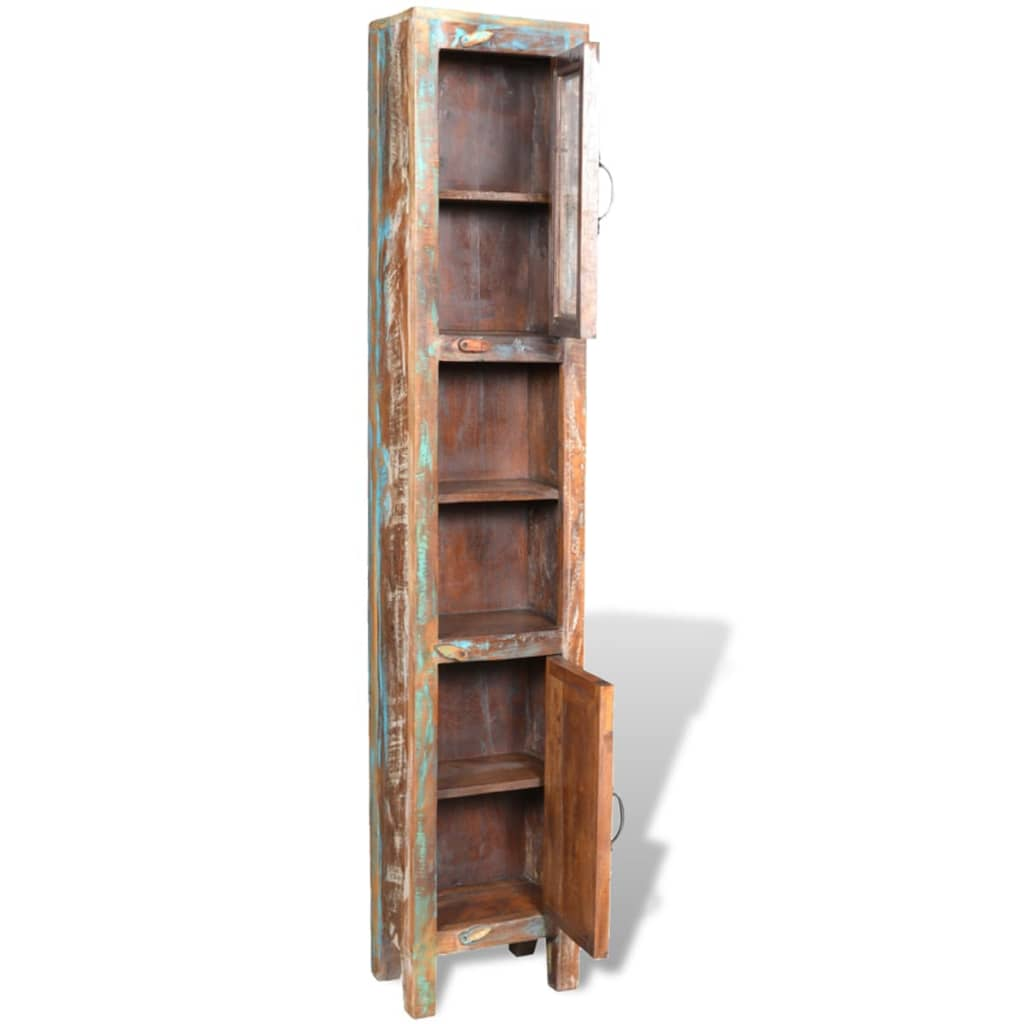 Reclaimed Solid Wood Vanity Cabinet Set with Mirror & 2 Side Cabinets 10