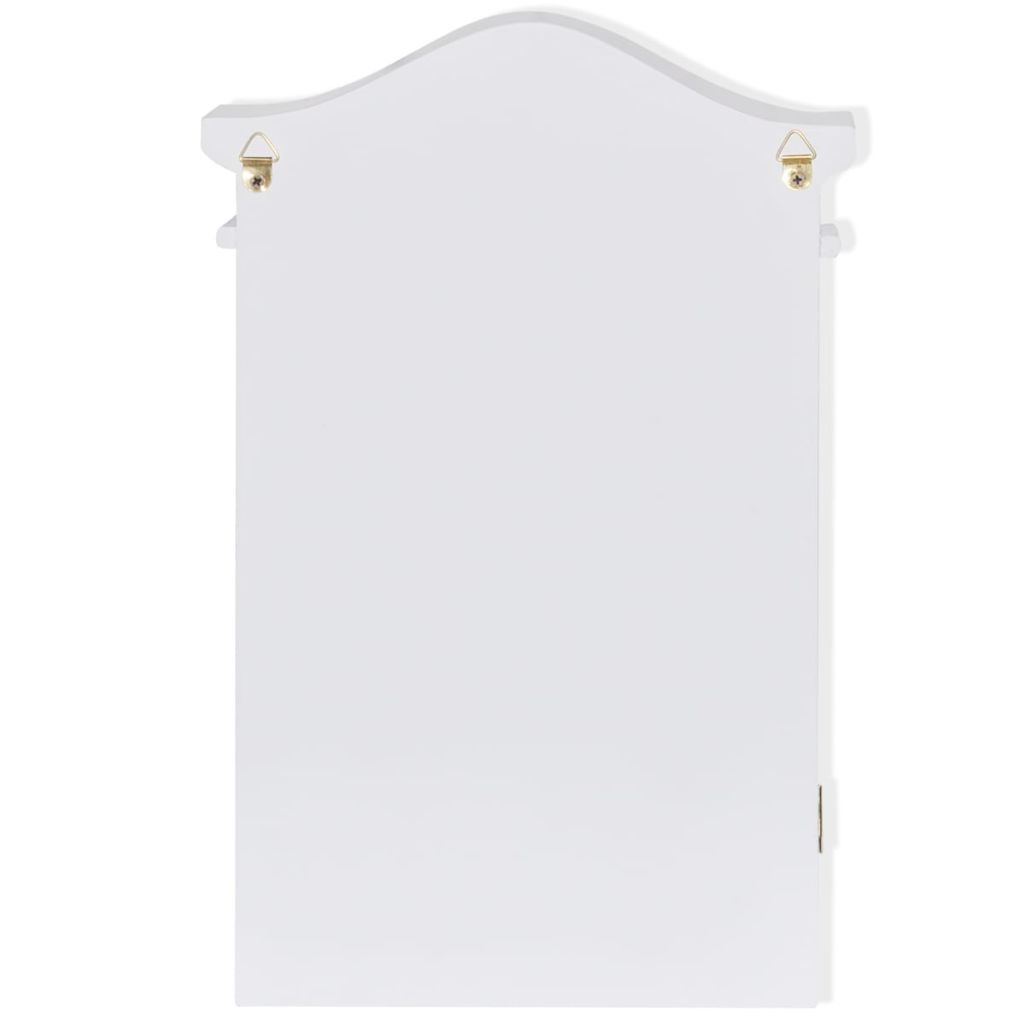 Key Cabinet with Photo Frame White 8