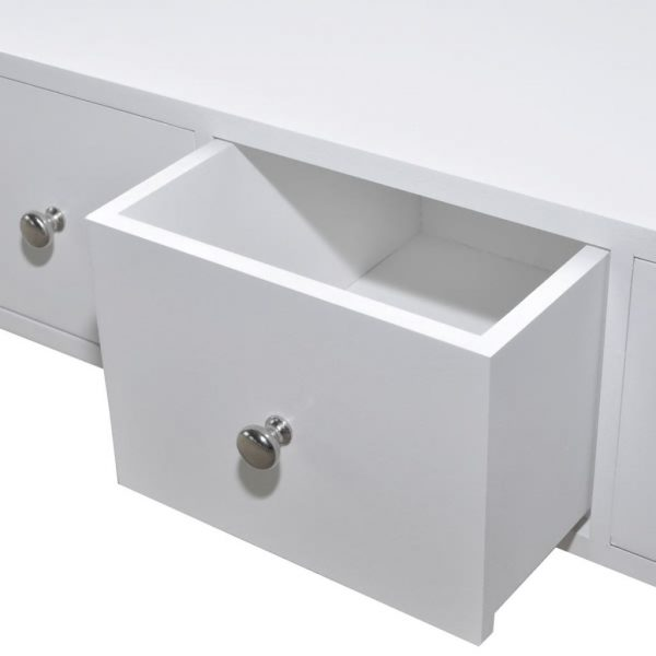 Four-drawer Cabinet White Wood 4