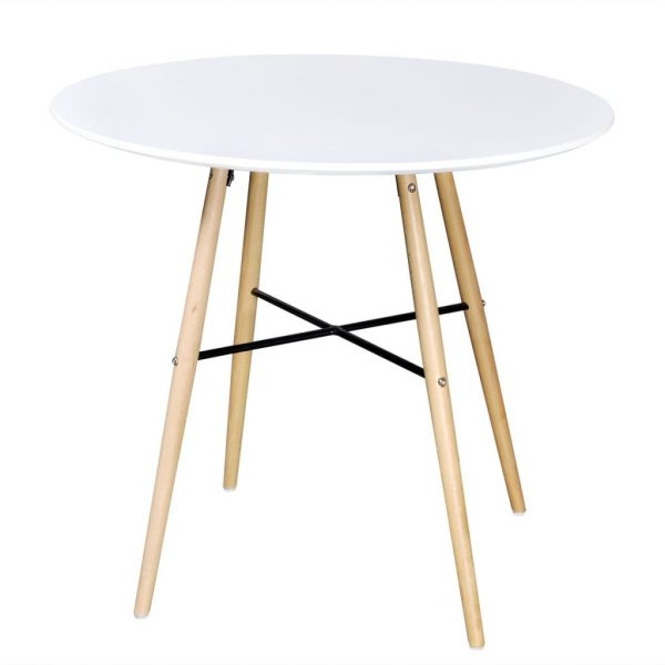Dining Table MDF Round White 1