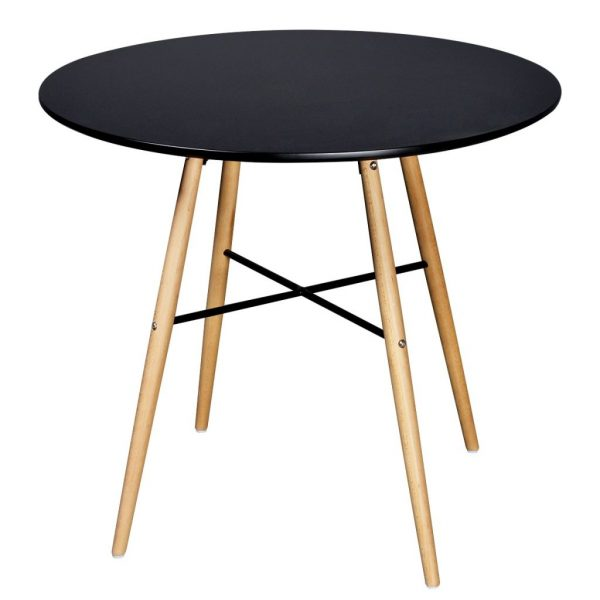 Dining Table MDF Round Black 1