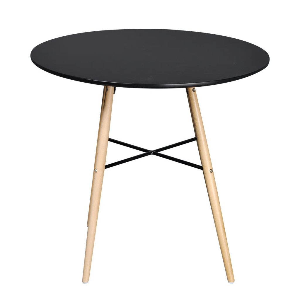 Dining Table MDF Round Black 2