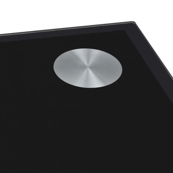 Dining Table with Glass Top Black 3
