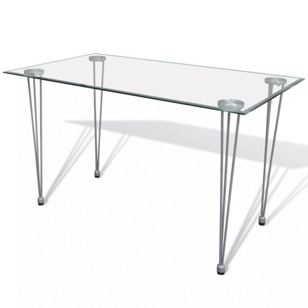 Dining Table with Glass Top Transparent 1