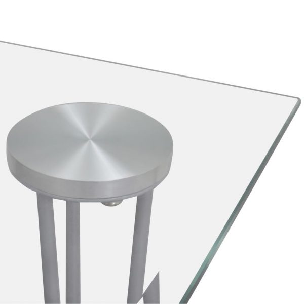 Dining Table with Glass Top Transparent 3