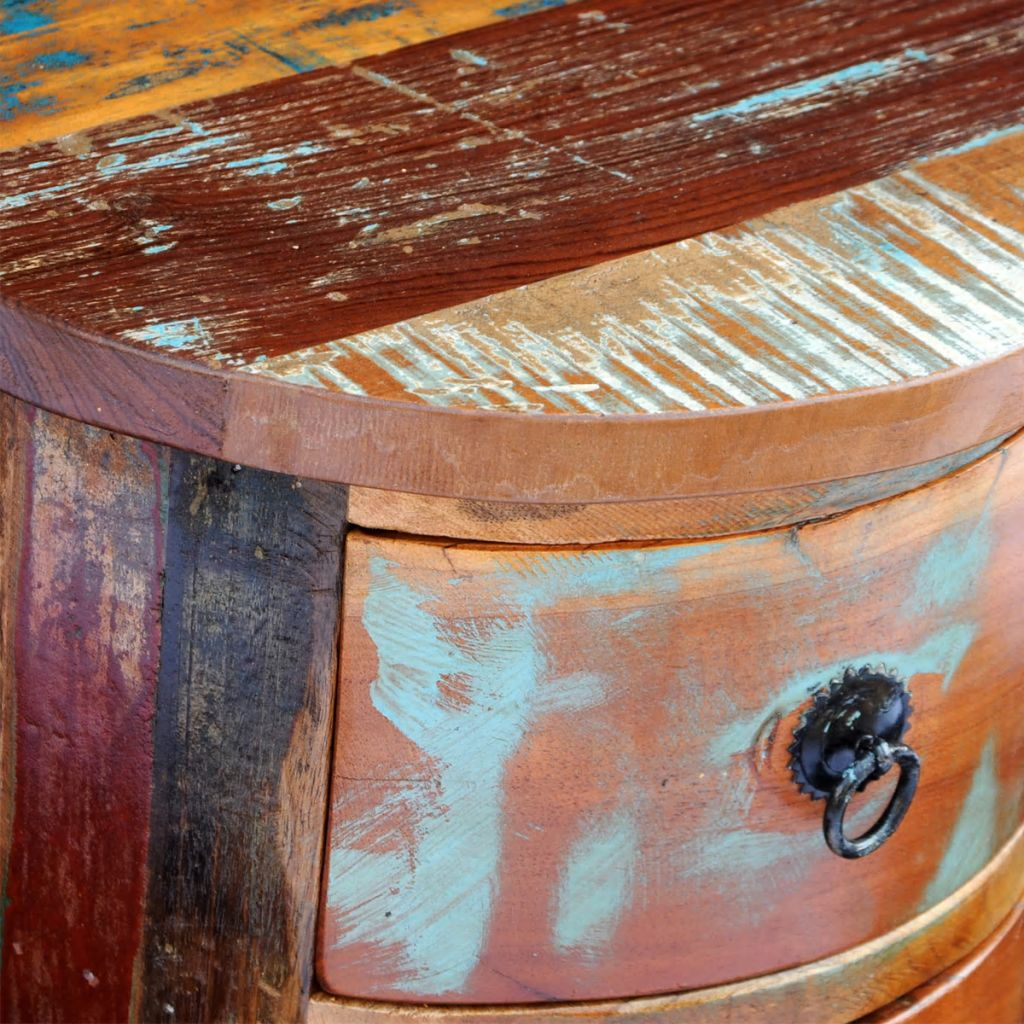 Reclaimed Cabinet with 3 Drawers Solid Wood 3