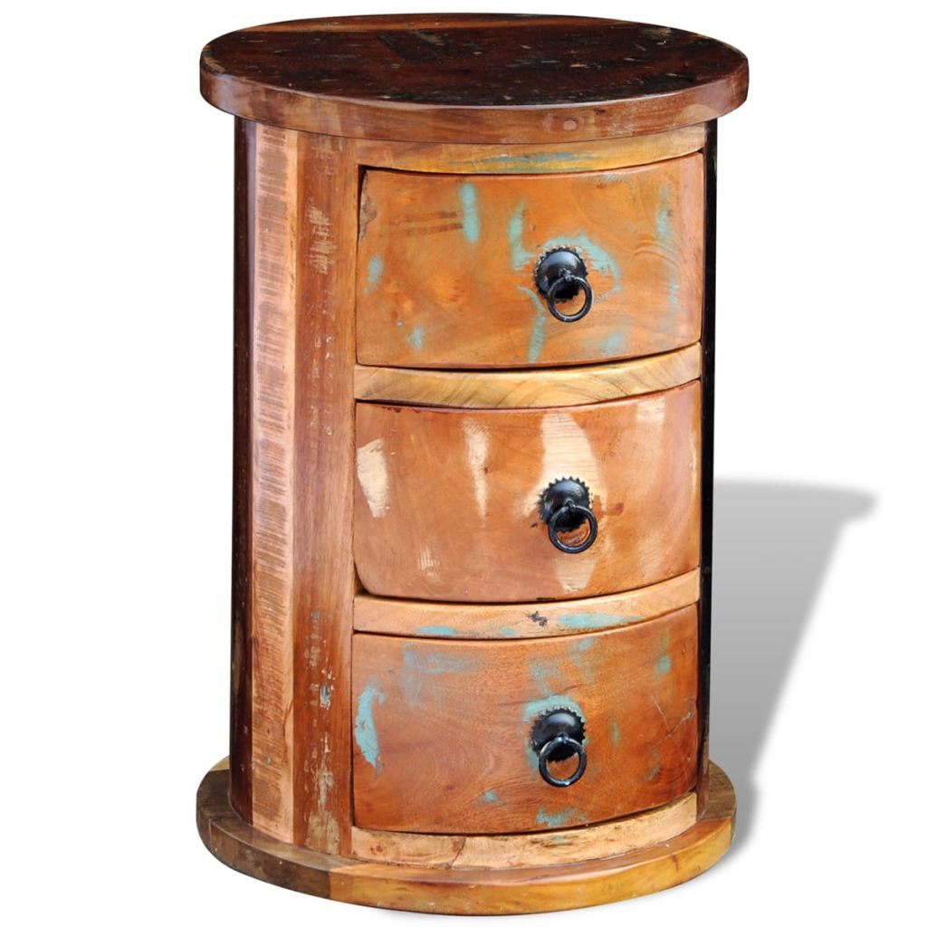 Reclaimed Cabinet with 3 Drawers Solid Wood 7