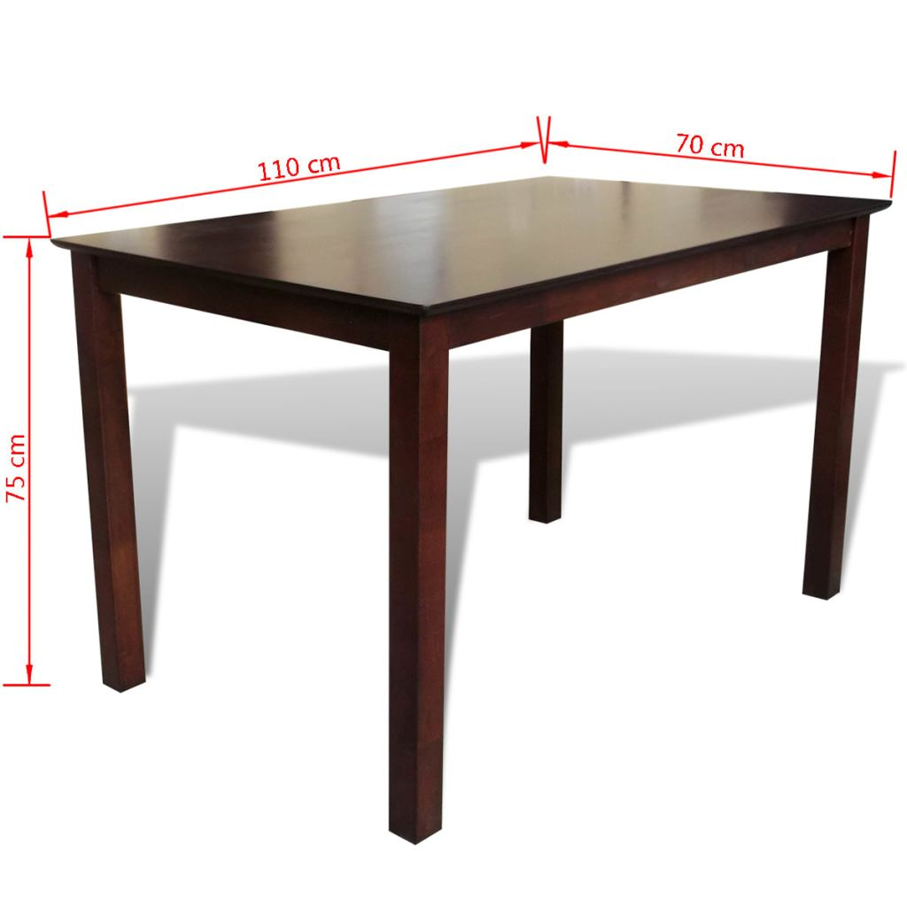 Dining Table 110 cm Solid Wood Brown 3
