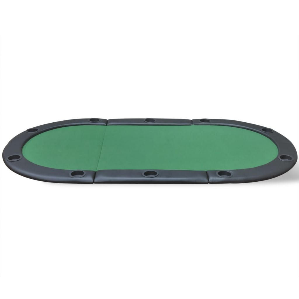 10-Player Foldable Poker Tabletop Green 3