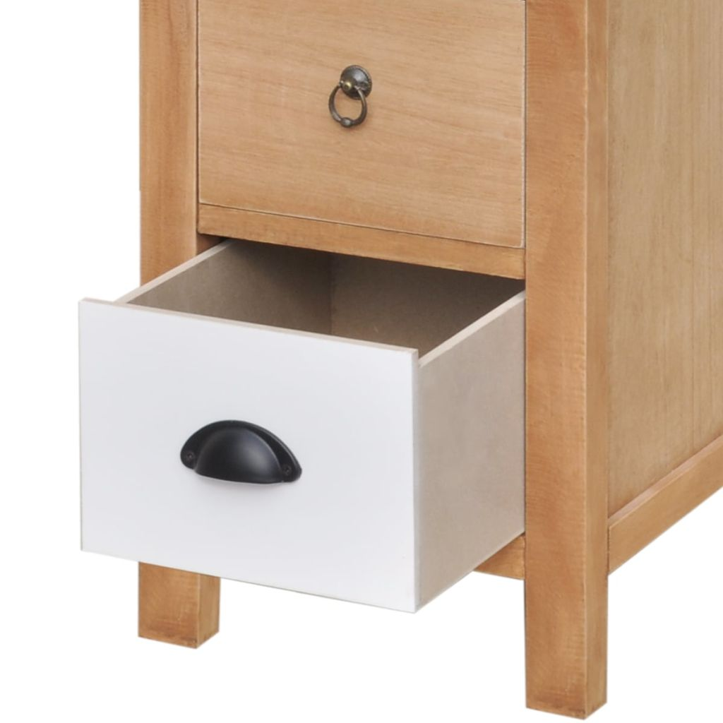 Drawer Cabinet 35x35x90 cm Solid Wood 5