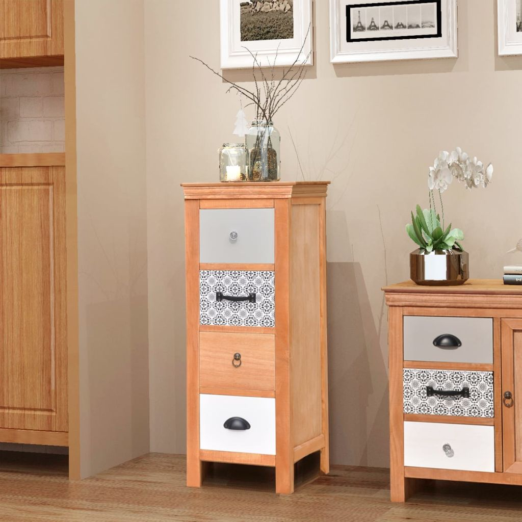 Drawer Cabinet 35x35x90 cm Solid Wood 1