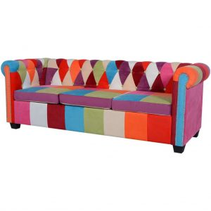 Chesterfield Sofa 3-Seater Fabric