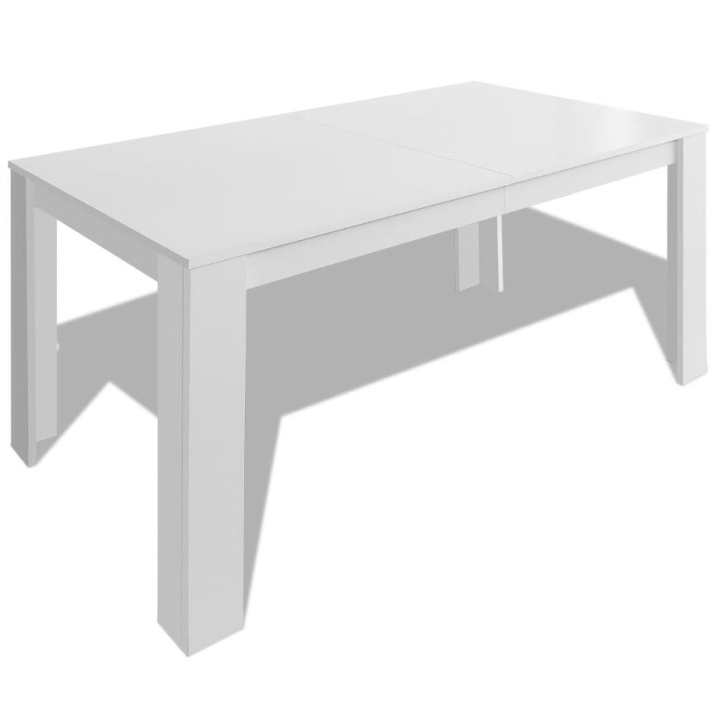 Dining Table 140x80x75 cm White 2