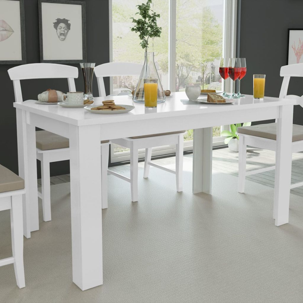Dining Table 140x80x75 cm White 1