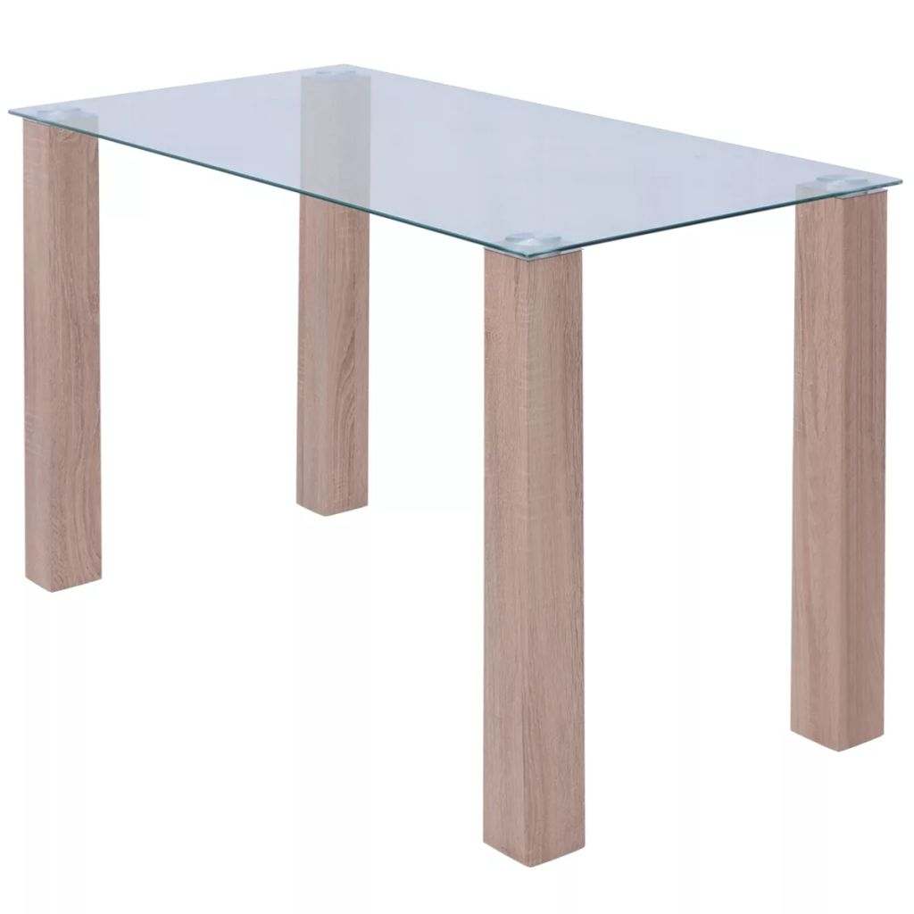 Dining Table Glass 120x60x75 cm