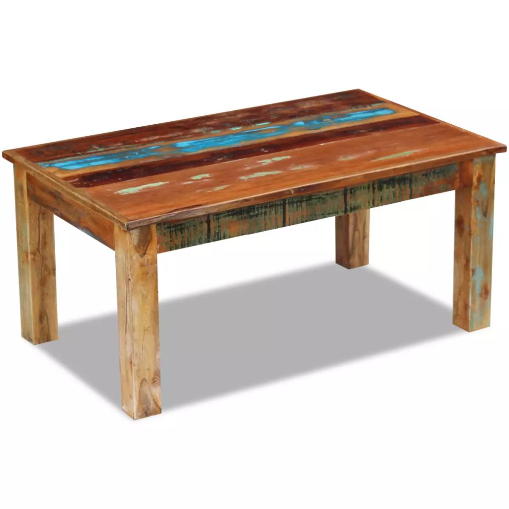 Coffee Table Solid Reclaimed Wood 100x60x45 cm