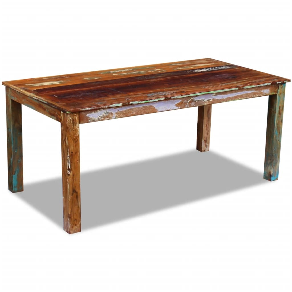 Dining Table Solid Reclaimed Wood 180x90x76 cm 2