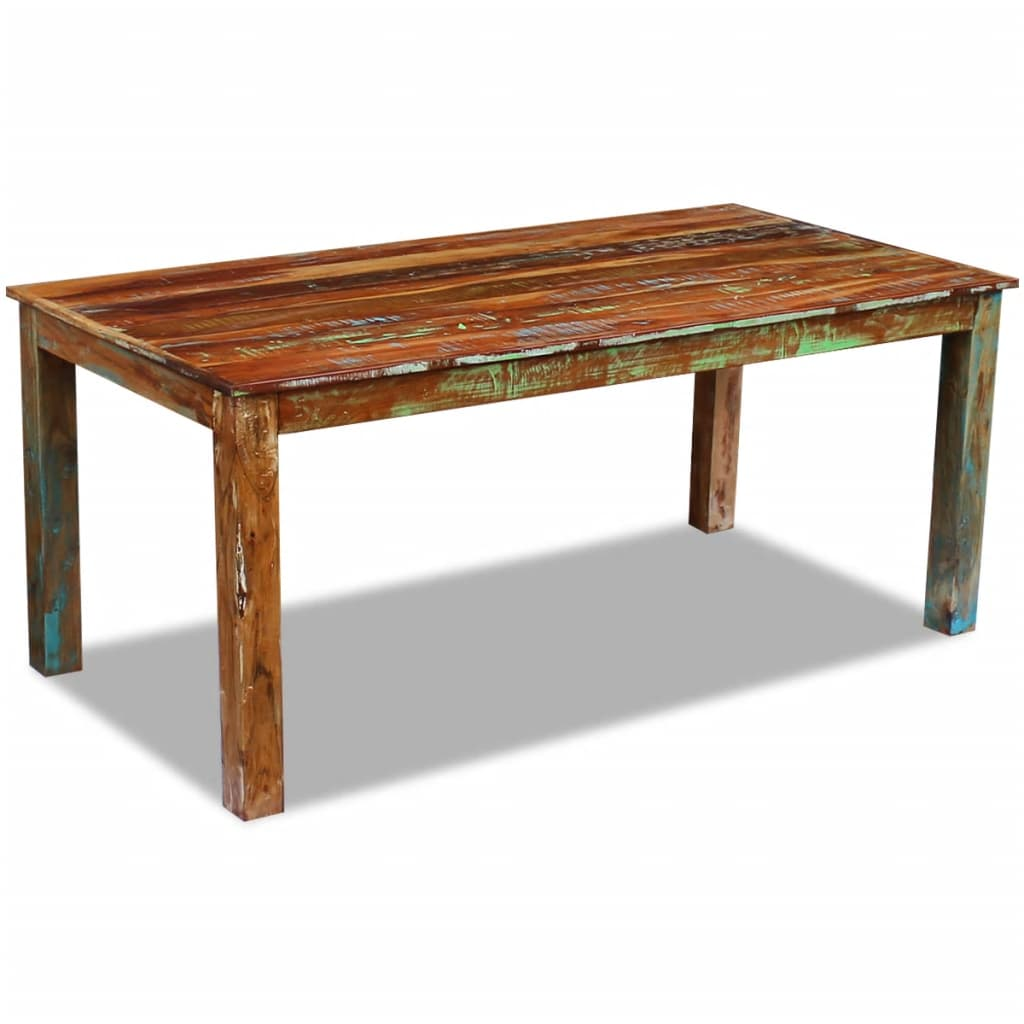 Dining Table Solid Reclaimed Wood 180x90x76 cm 3