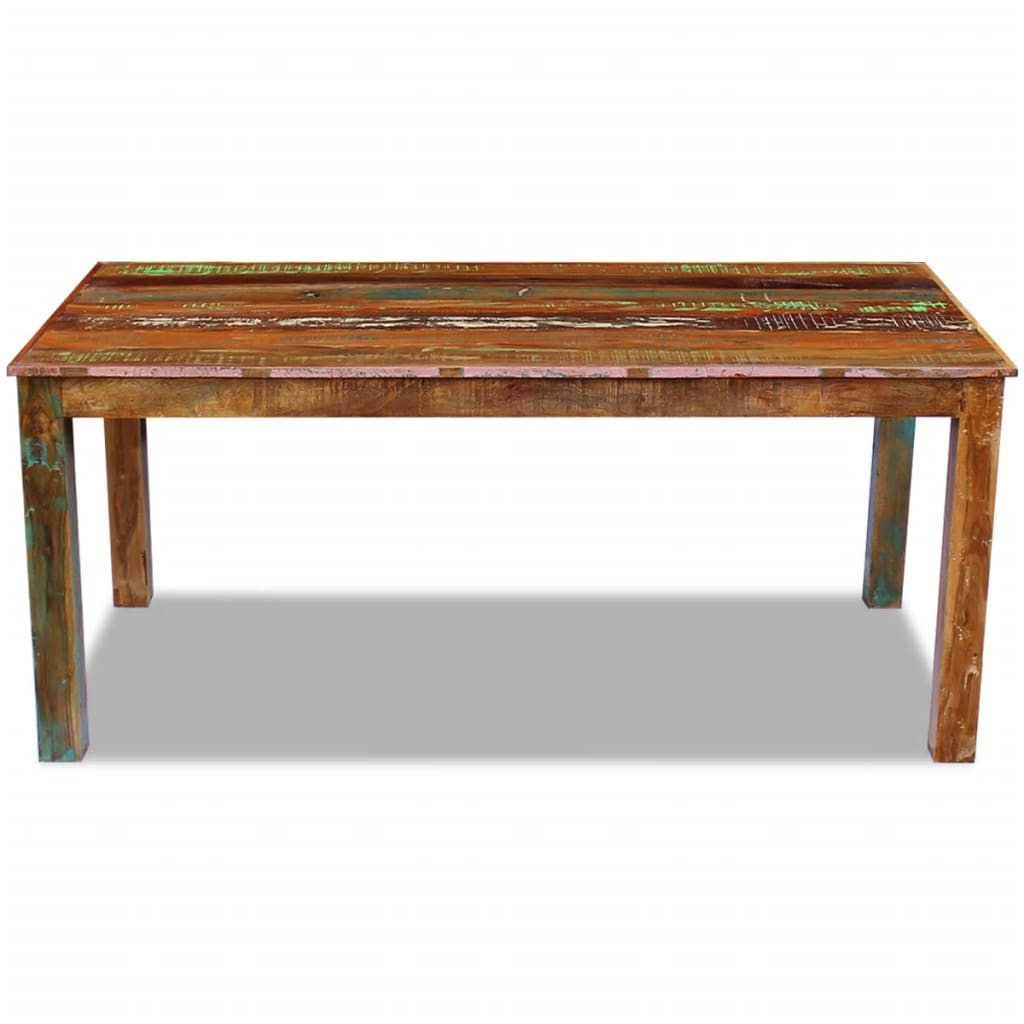 Dining Table Solid Reclaimed Wood 180x90x76 cm 6
