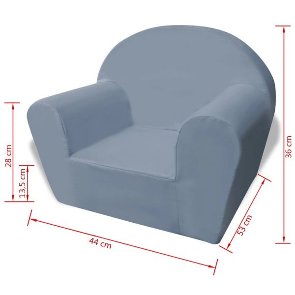 Kids' Armchair Grey 5